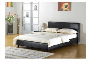 cheap leather beds