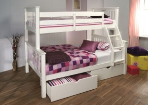 high sleeper beds pavo white