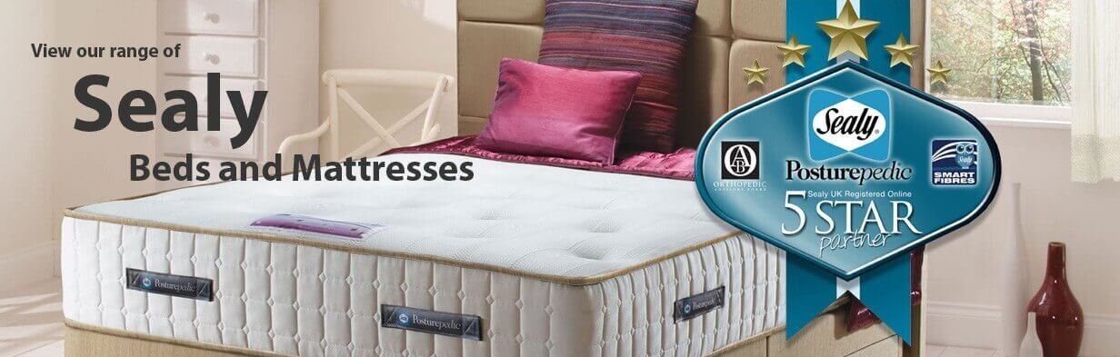 View our range of Sealy Beds and Mattresses