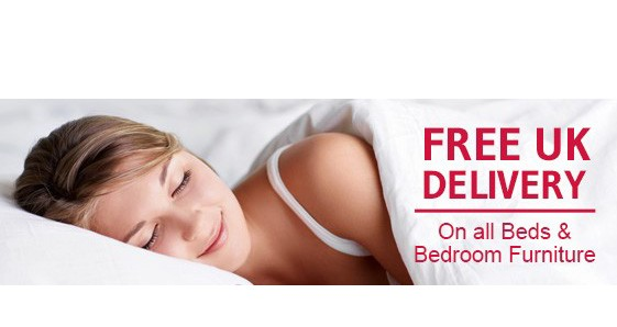 Free UK Delivery on Beds and Bedroom Furniture