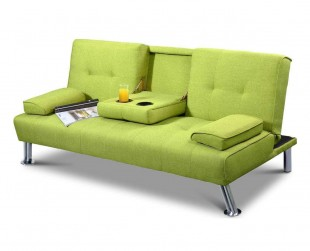Sleep Design New York Green Fabric Sofa Bed by Sleep Design