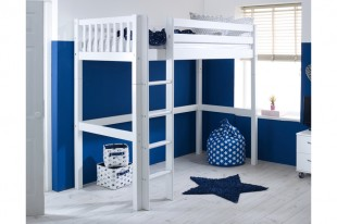 Flexa Nordic Highsleeper Bed 1 With Slatted End Panels By