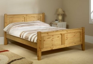 friendship mill coniston high foot end 6ft super kingsize pine wooden bed frame by friendship mill - Pine Bed Frame