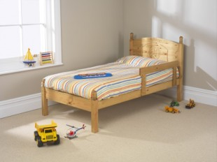 Small Bed friendship mill football 2ft6 small single pine wooden bed frame