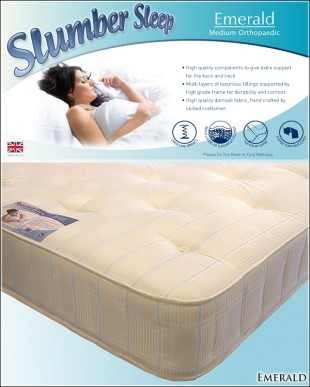Time Living Emerald 3ft Single Open Coil Spring Mattress
