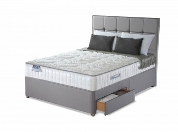 Sealy Posturepedic Jubilee Latex 6ft Super Kingsize Divan Bed