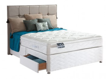 Sealy Pearl Geltex 6ft Super Kingsize Divan Bed