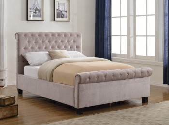 Flair Furnishings Lola 4ft6 Double Mink Fabric Bed Frame
