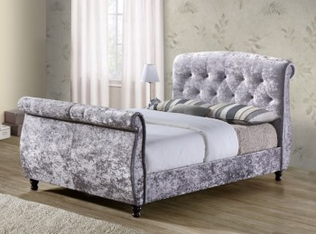 Birlea Toulouse 5ft Kingsize Grey Fabric Bed Frame