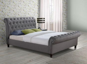 Birlea Castello 6ft Super Kingsize Grey Fabric Bed Frame