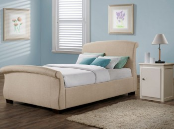 Birlea Barcelona 4ft6 Double Wheat Fabric Bed Frame