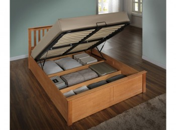 Birlea Phoenix 4ft6 Double Ottoman Lift Wooden Bed Frame In Oak
