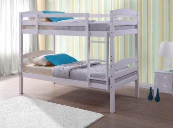 Birlea Chatsworth 3ft Single White Wooden Bunk Bed
