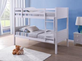 Birlea Dakota 3ft Single White Wooden Bunk Bed