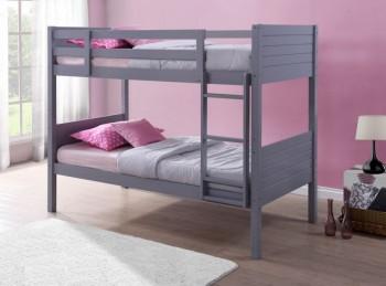 Birlea Dakota 3ft Single Grey Wooden Bunk Bed