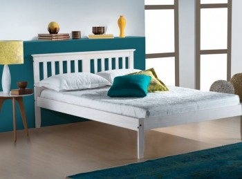 Birlea Salvador 4ft6 Double White Wash Wooden Bed Frame