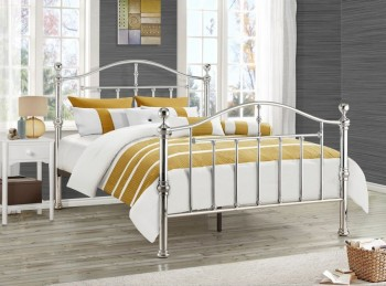 Birlea Victoria 4ft6 Double Chrome Metal Bed Frame