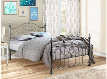 Birlea Lexington Black Nickel 5ft Kingsize Metal Bed Frame