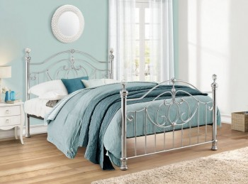 Birlea Lexington Chrome 4ft6 Double Metal Bed Frame