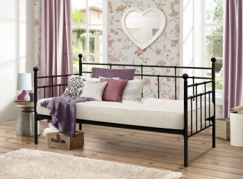 Birlea Lyon 3ft Single Black Metal Day Bed
