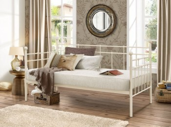 Birlea Lyon 3ft Single Cream Metal Day Beds