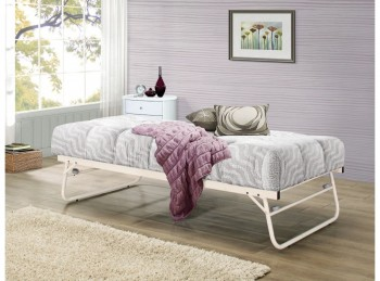 Birlea Trundle Guest Under Bed in Cream Metal