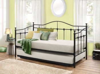 Birlea Torino 3ft Single Black Metal Day Beds Frame with Trundle