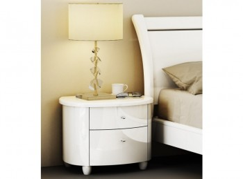 Birlea Aztec White Gloss 2 Drawer Nightstand