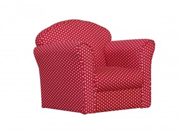 Kidsaw Red With White Spots Childrens Mini Armchair