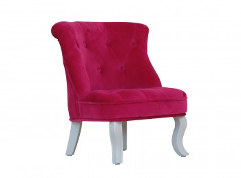Kidsaw Mini Cabrio Chair In Pink Velvet