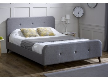 Limelight Tucana 4ft6 Double Grey Fabric Bed Frame