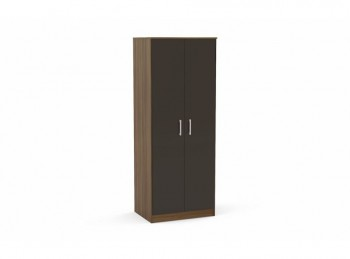 Birlea Cannes Wardrobe Walnut with Black