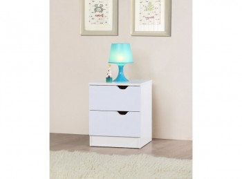 Birlea Paddington Bedside Table White and Oak