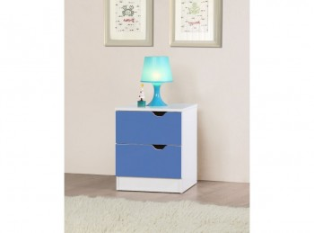 Birlea Paddington Bedside Table White and Blue