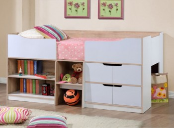Birlea Paddington Cabin Bed White and Oak