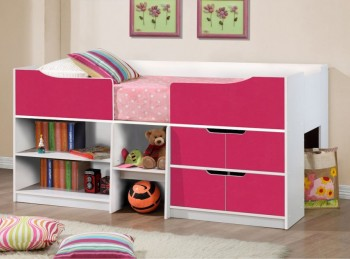 Birlea Paddington Cabin Bed White and Pink
