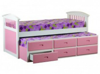 Sweet Dreams Ruby Pink Captains Bed