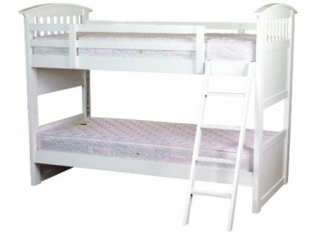 Sweet Dreams Ruby White 3ft (90cm) Single Bunk Bed