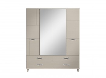KT Moda Cashmere And Elm 4 Door Mirrored Gents Wardrobe