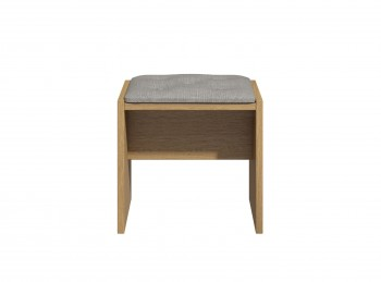 KT Moda Cashmere And Elm Dressing Table Stool