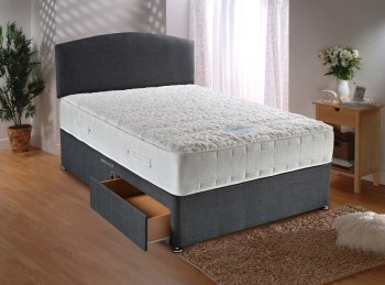 Dura Bed Sensacool Divan Bed 6ft Super Kingsize with 1500 Pocket Springs with Memory Foam