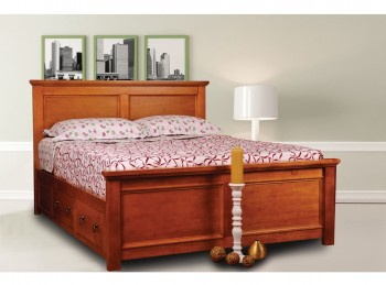 Sweet Dreams Wagner 4ft6 Double Bed Frame with Under Bed Drawers in Oak