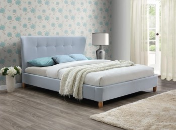 Birlea Kensington 4ft6 Double Sky Blue Fabric Bed Frame