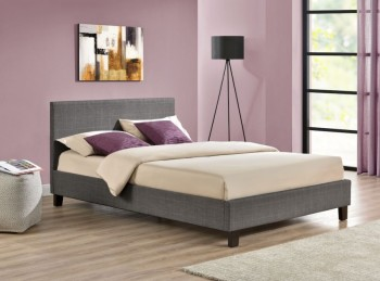 Birlea Berlin 4ft Small Double Grey Check Fabric Bed Frame