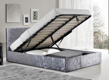 Birlea Berlin 5ft Kingsize Steel Fabric Ottoman Bed