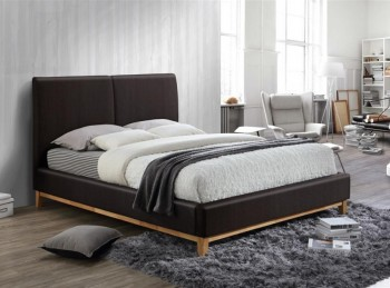Birlea Helsinki 4ft6 Double Brown Faux Leather Bed Frame