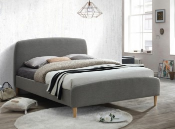 Birlea Quebec 4ft6 Double Grey Fabric Bed Frame