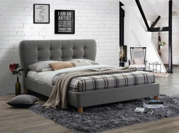 Birlea Stockholm 4ft Small Double Grey Fabric Bed Frame