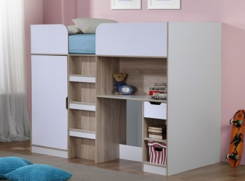 Birlea Paddington High Sleeper Bed White And Oak
