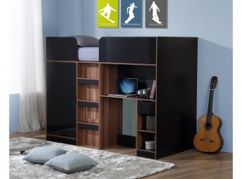 Birlea Paddington High Sleeper Bed Black And Walnut